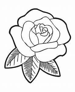 Top 10 Easy Rose Flower Coloring Pages Free - Kids ...