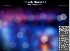 Bokeh Photoshop and GIMP Brushes by redheadstock on DeviantArt