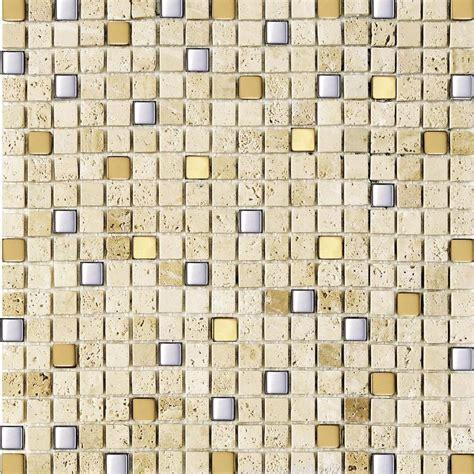 Mosaik Fliesen Aus Marmor Mit Edelstahl  Athen Mosaik