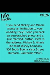 send your wedding invitation to mickey and minnie mouse With sending wedding invitations to disney characters