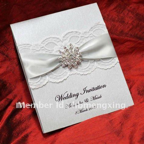 silver lace wedding invitation card EA119 on Aliexpress