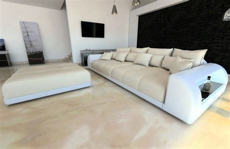 Big Sofa Mit Led Bigsofa Materialmix Miami With Stool And Led Lighting