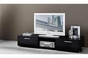 Meuble Laqué Noir : meuble tv bas laque noir ~ Premium-room.com Idées de Décoration