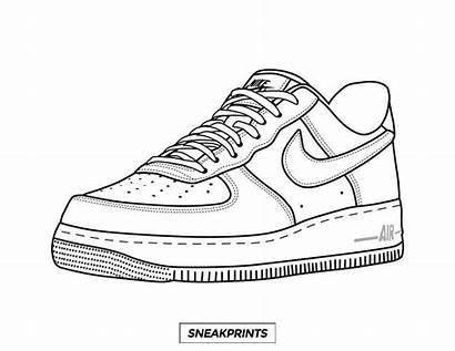 Coloring Force Air Nike Sneaker Shoe Own