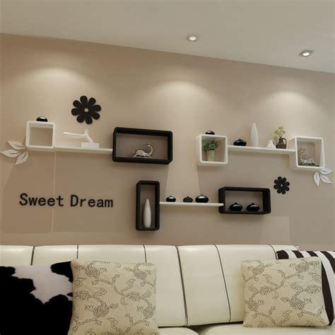 ikea wohnzimmer tv kulisse dekorative wandhalterung rack
