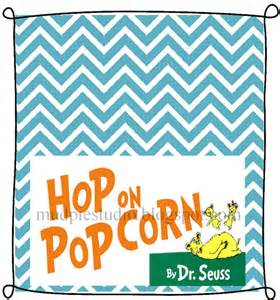 Dr Seuss Suess Hop on Popcorn Tag Topper Label by