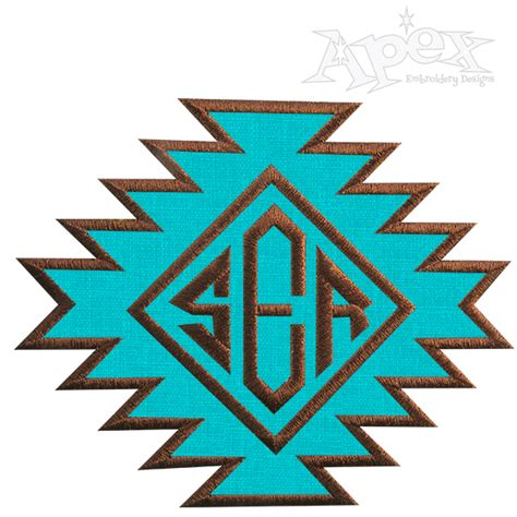 aztec print embroidery frame