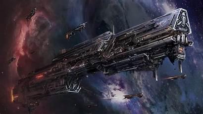 Spaceship Space Fantasy Artwork Stellaris Desktop Mega