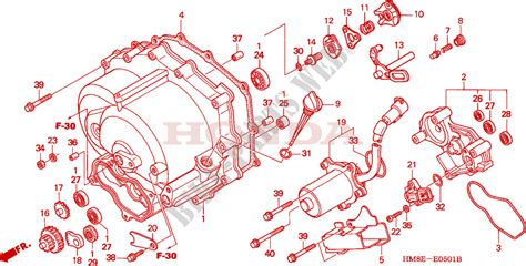 250 Motorcycle Engine Diagram by Front Crankcase Cover Trx250te For Honda Fourtrax 250