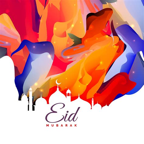 eid mubarak creative abstract background design seni