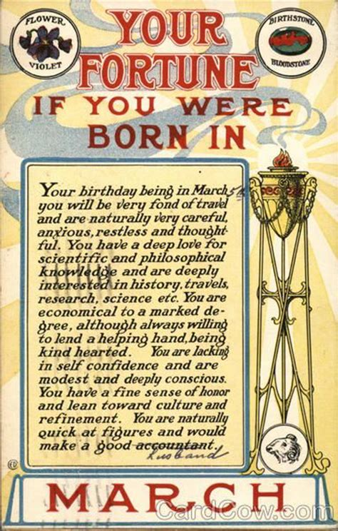 Your Fortune if You Were Born in March   March born ...