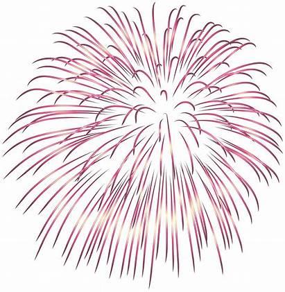 Fireworks Pink Clipart Transparent Firework Purple Heart