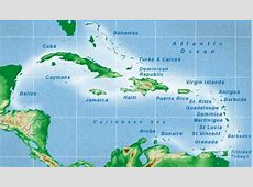 Caribbean Islands Map Visually