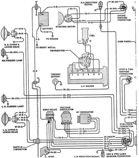 chevy  wiring diagram  chevy truck wiring