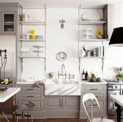 carrara marble bathroom designs 10 gorgeous takes on open shelving in kitchens