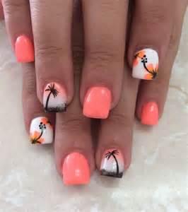 Palm tree nail art ideas jewe