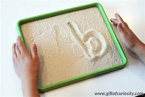 writing letters in a salt tray 101 ways to teach the With alphabet letter trays