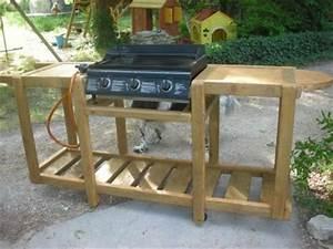 Meuble Pour Plancha : meuble en bois pour une plancha construction roulotte ~ Melissatoandfro.com Idées de Décoration