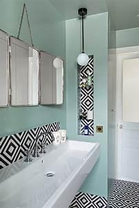 miroir salle d eau cool salle de bain mosaique u ides et With carrelage adhesif salle de bain avec applique led variateur