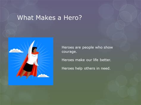 community heroes powerpoint   computer lab technology