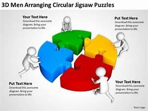 Business People Clip Art Circular Jigsaw Puzzles