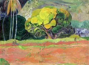 Fatata Te Moua Painting by Paul Gauguin