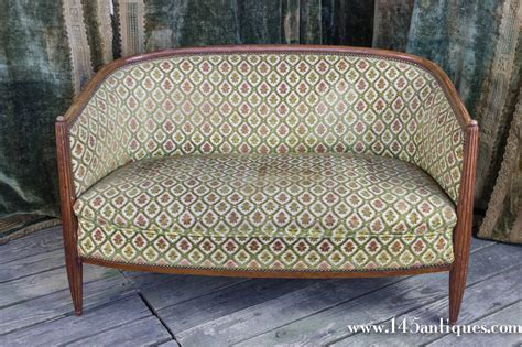 deco settee deco settee with curved back for sale at 1stdibs