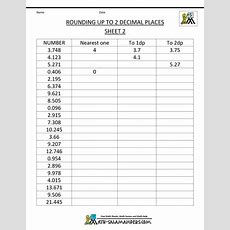 Rounding Decimal Places  Rounding Numbers To 2dp