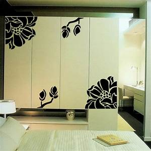 Free shipping kitchen cabinet door wardrobe flower prints for Kitchen colors with white cabinets with playing card stickers
