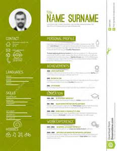 Technology Resume Template Cv Resume Template Stock Vector Image 53067320