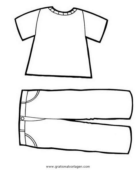 Kleurplaat Kledingstukken by T Shirt Und Hose Gratis Malvorlage In Diverse Malvorlagen
