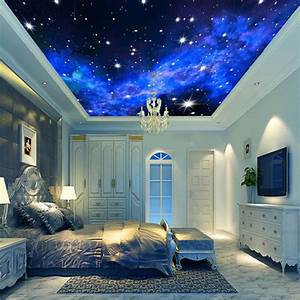 3D Wallpaper Mural Night Clouds Star Sky Wall Paper ...
