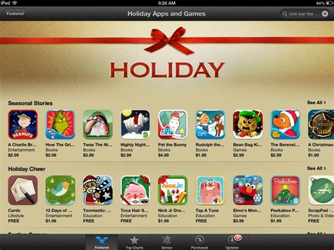 christmas games for ipads apps featured in app store insight