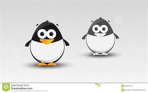 Cartoon Penguin In Vector Royalty Free Stock Photos