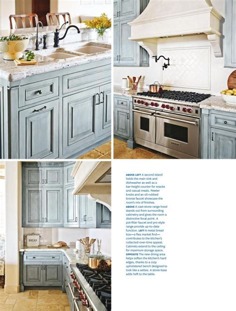 french country kitchen  blue color scheme interiors
