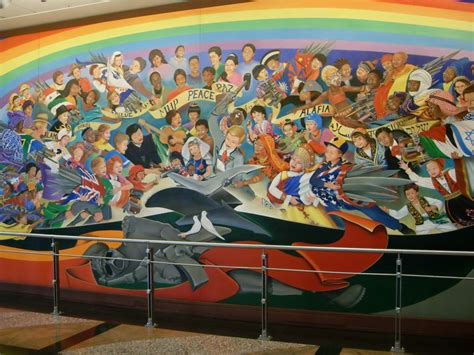 Denver Airport Murals Conspiracy Debunked by Denver Airport Coffin Murals Denver International