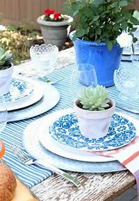 trending patio table decor ideas Flea Market Style Outdoor Table Setting - Satori Design for Living