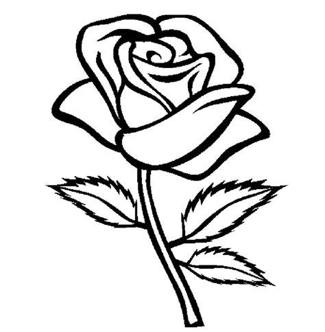 gambar mewarnai bunga mawar yang mudah belajarmewarnai info