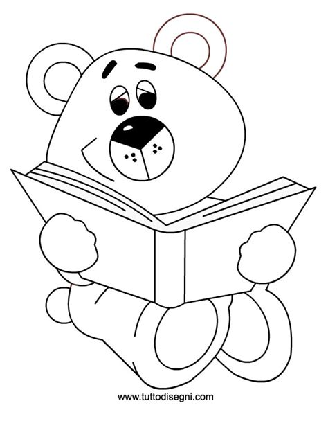 immagini di libri da colorare per bambini orsetto con libro da colorare tuttodisegni