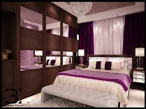 modern, purple, bedroom, on, behance