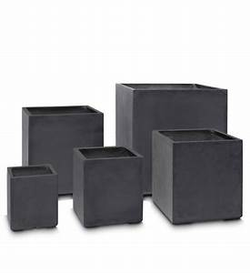 Obi Pflanzkübel Beton : pflanzk bel beton eckig anthrazit im greenbop online shop kaufen ~ Watch28wear.com Haus und Dekorationen