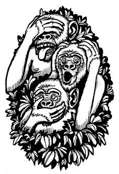 28 Hear No Evil See No Evil Speak No Evil Tattoos with Meanings | Hear No Evil See No Evil Speak