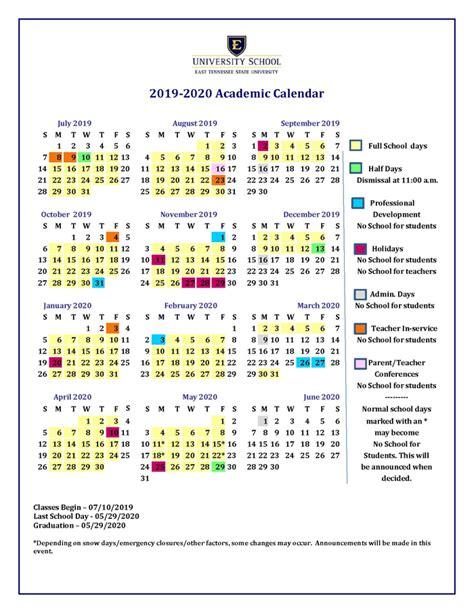 academic calendar school year