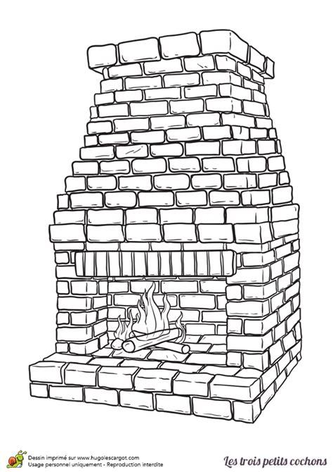 la cuisine verte coloriage de la cheminée de l histoire des trois petits