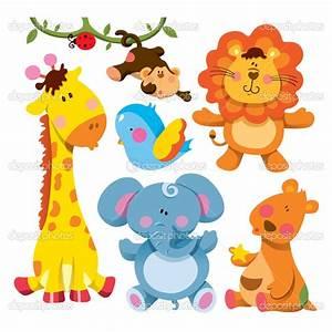 cartoon baby animals | Cute Animal Collection | Stock ...