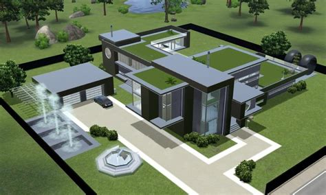 Modern House Plans Sims 3 Unique Home Design Modern House
