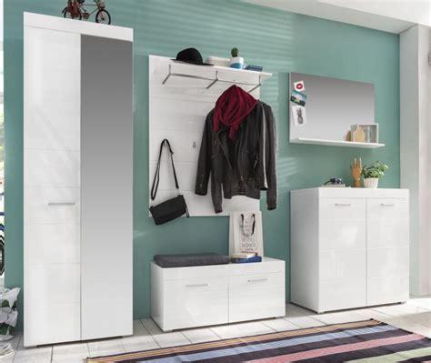 ebay garderoben set garderoben set hochglanz wei 223 flurgarderobe 5 tlg mit