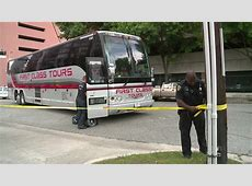 Pedestrian struck, killed by tour bus in downtown