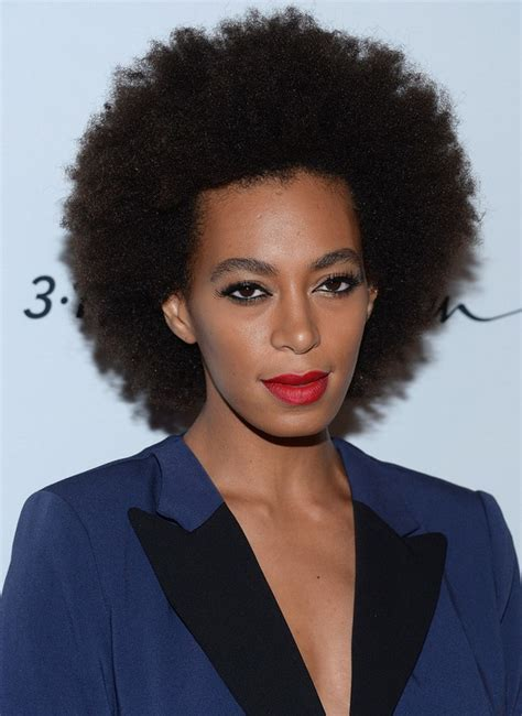 solange knowles afro hairstyle  styles weekly
