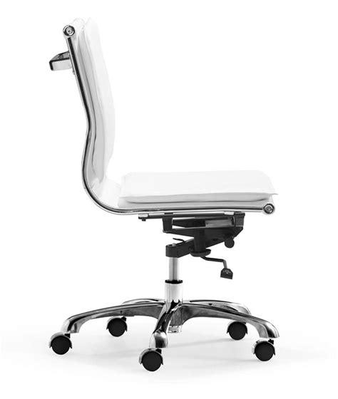 zuo modern lider plus armless office chair white zm